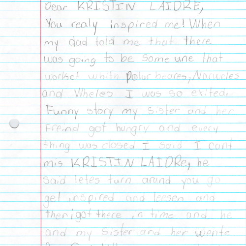 A letter from Dakota, age 8